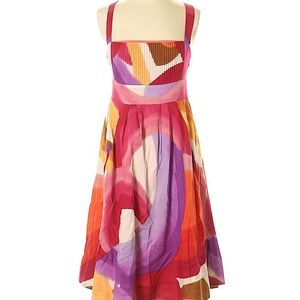 New Odille Abstract Print Cotton Sundress 2